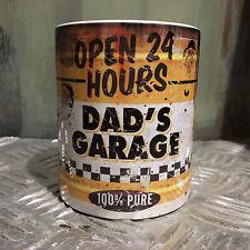 DAD'S GARAGE OLIO CAN REGALO MOTO Carrozze MECCANICO 313ml tè e caffè tazza