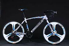 ❥Commuters Aluminum Full Suspension Road Bike 21 Speed Disc Brakes, 700c