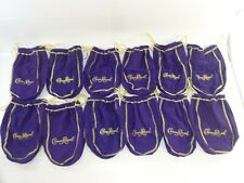 "Lot of 12 Crown Royal 750ml Purple Drawstring Bags ~ 9"""