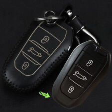 Leather Case Cover fit for PEUGEOT 408 508 3008 CITROEN DS Remote Smart Key