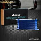 10 Row An-10 Fit For Universal Engine Transmission Oil Cooler Blue