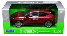 Welly 1:24 W/B Porsche Macan Turbo Diecast Car Model Red