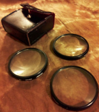 Vintage Close Up Lens Set of 3 Tiffen Japan In Box with Case 58mm
