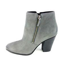 Michael Kors Damen Schuhe Stiefeletten Boots Denver Bootie Grau Leder Np 250 Neu