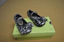 New in Box Sarah Jayne Cindy Pewter Girls Toddler Ballet Flats