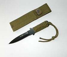 Survivor Full Tang Sharp Double Edge Fixed Blade Outdoor Survival Knife +Sheath
