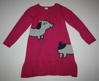New Gymboree Pink Dachsund Dog Sweater Dress Size 4T NWT Ready Jet Go Line Girls