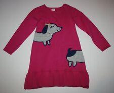 New Gymboree Pink Dachsund Dog Sweater Dress Size 4T NWT Ready Jet Go Line Girls