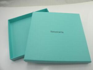 "Tiffany & Co. Square Flat Blue Gift Jewelry Box Empty 5 3/4"" x 5 3/4"" No bag <--"