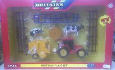 ERTL BRITAINS 1:32 FARM SET TRATTORE CON 2 ATTREZZI 2 MUCCHE RECINZIONE  42327