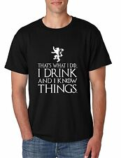 That's What I Do I Drink And I Know Things Men's T Shirt GOT Tyrion Graphic Tee