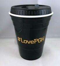 #Love Pittsburgh Plastic Solo Cup Travel Tumbler Black