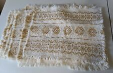 Cream And Gold Woven Placemats (6)