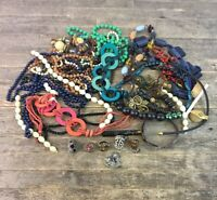 Large Job Lot Of Vintage Costume Jewellery To Include Necklaces & Rings.