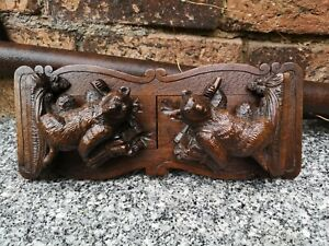 Vintage pair of black forest bookends
