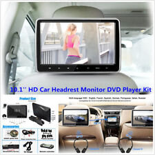 10.1'' HD TFT LCD Screen Car Headrest Monitor DVD Player Kit With USB/SD/HDMI/FM