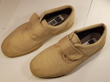 M&S Mens White Canvas Casual Shoes (hook & loop) - UK Size 10 - Pre-worn