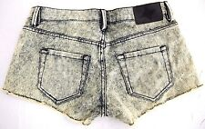 BCBGeneration Womens Yellow Acid Wash Denim Cut Off Jean Short Shorts 25