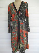 Gorgeous Clarity Womens L/S Boho Dress. Knee Length. Size XXL.
