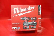Milwaukee (2892-22Ct) M18 Compact Brushless Drill/Impact Driver Combo Kit New