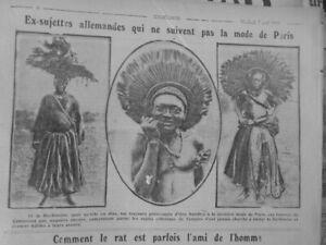 1916 Colony German Women Camerounaises Costumes Traditional Refusent Fashion