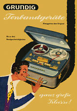 1950s Grundig Reel to Reel Portable Tape Recorder Poster 13 x 19 Giclee Print