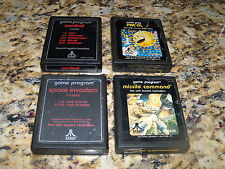 Lot of 4 Atari 2600 games: Pac-man, Combat, Space Invaders and Missile Command