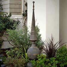 Bogart Garden Finial Sculpture, Hand Finished Metal, Lawn Decor, NO TAX