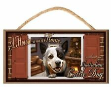 "Australian Cattle Dog ""Paws on the Windowsill"" A House is Not a Home Dog Sign /"