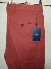 Very smart lovely soft red BNWT chinos by Hackett of London W32 L32 RRP £135!!