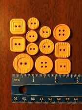 Lot Of 12 Resin Orange Buttons Lot 6