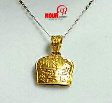 """Egyptian Handmade Queen Isis with wings 18K Yellow Gold Pendant 0.78"""""""
