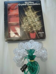 Vintage Retro Pifco Christmas Fairy Lights 20 Chandeliers No.1327