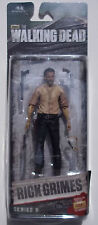 THE WALKING DEAD RICK GRIMES SERIES 6 ACTION FIGURE. W/ GUNS, SPARE HAND, KNIFE.
