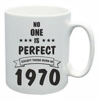 49th Novelty Birthday Gift Present Tea Mug No One Is Perfect 1970 Coffee Cup