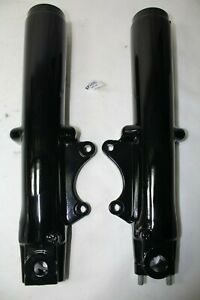 BLACK 41mm FL fork legs sliders 1999 down Harley Road Glide King FLHT EPS22940
