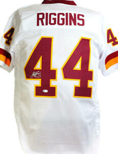 John Riggins Autographed White Pro Style Jersey- Beckett W *Silver