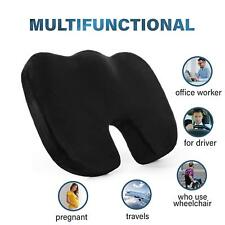 Orthopedic Seat Cushion Back Pain Relief Memory Foam Pillow Office Car Home