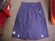 TCU Horned Frogs Basketball Player #11 Purple Game Worn Shorts Nike Size LT