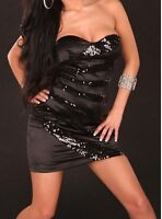 Party Club Wear Modern Stylish Sequins Dress UK size 8-10- Black