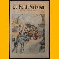 LE PETIT PARISIEN Supplément littéraire illustré Collision voitures 11 mai 1902