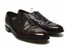 BOSTONIAN Men's Burgundy Leather Wing Tip Dress Shoes 12 C/A Made in USA