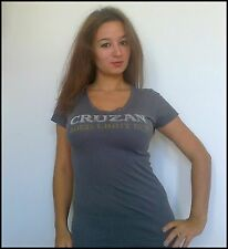 Gray Cruzan Rum T-Shirt Very Comfortable and Soft to the Touch