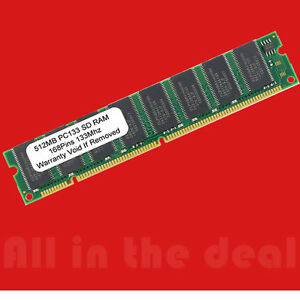 512MB PC133 SDRAM DIMM 168-PIN non-ecc LOW-DENSITY 32x8