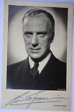 14420 UFA  Foto Autogramm AK Louis Graveure um1938 autograph authentic signature