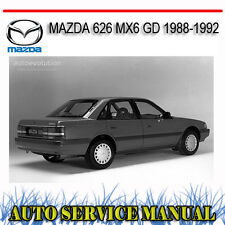 MAZDA 626 MX6 GD 1988-1992 WORKSHOP SERVICE REPAIR MANUAL ~ DVD