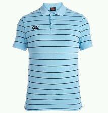 Men's Canterbury Rugby Polo. Blu a righe. Taglia: XS