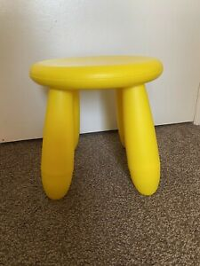 IKEA Mammut Children's Stool Indoor/Outdoor Yellow Gently Used
