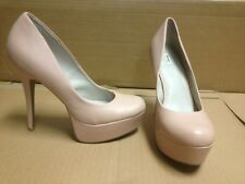 Light Millenial Blush Pink Rose Faux Leather High Heels Pumps Size 10 M