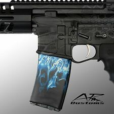 AR Soc Blue Flames / Mag Wraps- fits: Polymer 30rd Mags  PMag